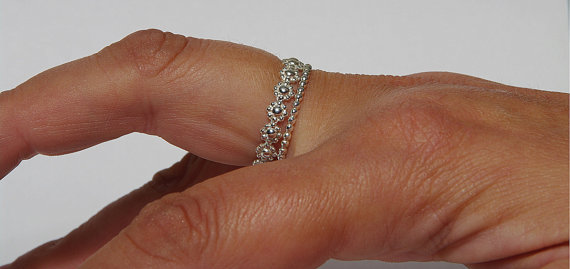 ring dr rings daisy engagement diamond antique cluster platinum wedding